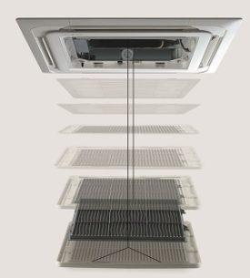 Elevation grille voor plafond cassette units
